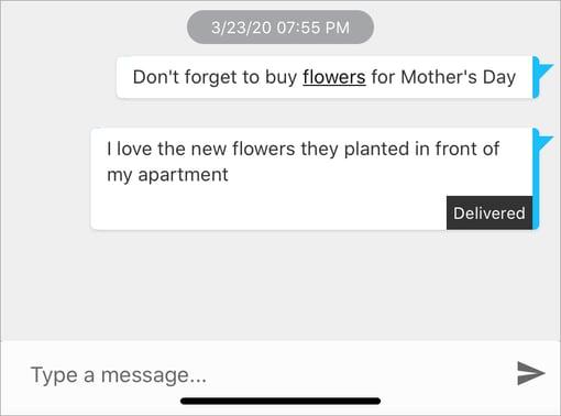 Messaging-Contextual-Shortcut-Message-Context